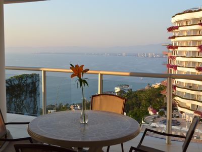 Photo for Ocean View 1br with private hot tub on balcony!  PV at it's finest!