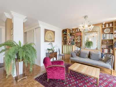 Photo for Characterful flat with a charming balcony close to the Tour Eiffel (Veeve)