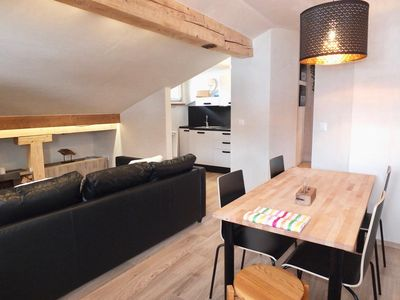 Photo for 3-room apartment in the attic, furnished, living/dining room, sep.
