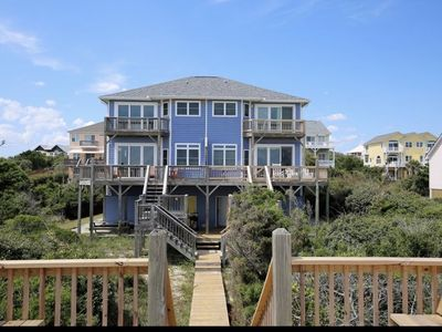Photo for 🏖Epic Panoramic Views On The Beach🐬Oceanfront Sleeps 14 in Spinnaker's Reach🐬