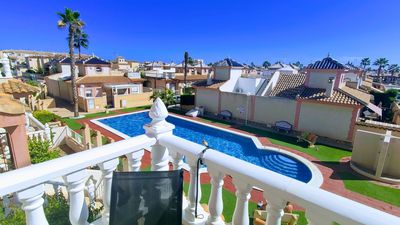 Photo for Flamingo Hills 2 Apartment 3 BR, pool, terrace, air, satellite, WiFi, sea view