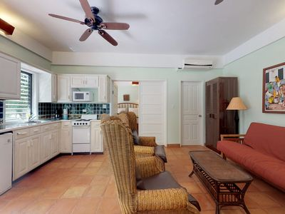 Photo for Oceanfront condo w/ shared pool, ocean view & AC - walk to beach!