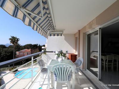 Photo for Beautiful T2 for 4 with sea view classified 3 * by the sea. Wifi, swimming pool, parking.