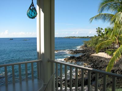 Photo for Ocean View Lagoon-Front Kona Condo - Walk to Town & Beach - AC-Heated Pool-Elevator