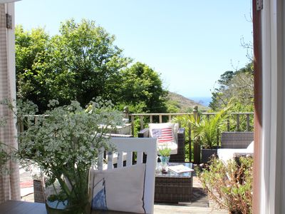 Photo for Amazing sea views, large terrace & lush gardens