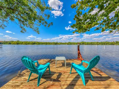 Photo for Family lakefront home w/ private dock, lake access, deck & pool table!