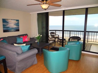 Photo for Renovated Oceanfront! Modern, gorgeous, amazing views ocean & bay, Indoor pool
