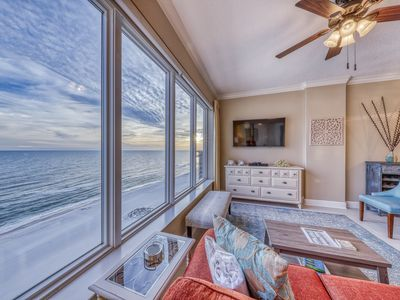 Photo for Waterfront penthouse condo w/ community pools, hot tub, sun deck, stunning views