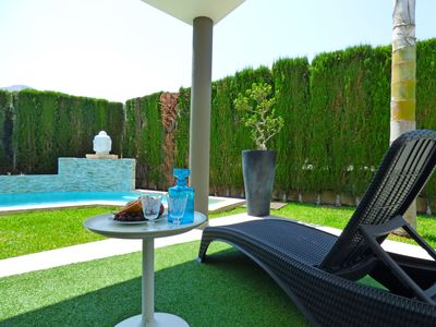 Photo for This 3-bedroom villa for up to 5 guests is located in Pego and has a private swimming pool, air-cond