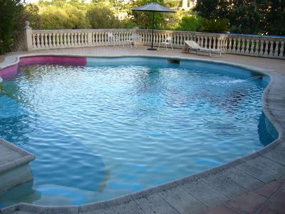 Photo for VERY POPULAR HUGE POOL 100 M2 GREAT COOKING AREA  & CATS ,self entertaining vila