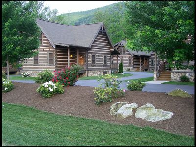 Photo for The Village #17: 2 BR / 2 BA two bedroom log cabin in Maggie Valley, Sleeps 6