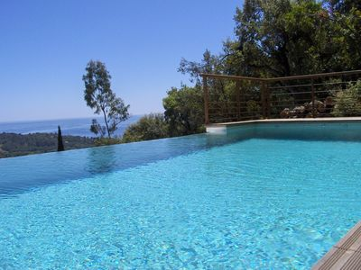 Photo for Duplex 1 room, with swimming pool seen impregnable sea in the field of Barbigoua.
