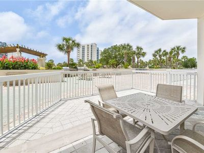 Photo for Lobby-level condo w/private patio pool & beach access! 🌴