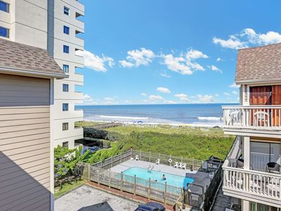 Photo for 2 BR 2 BA Top Floor Oceanfront Condo with Private Pool and Private Beach Access