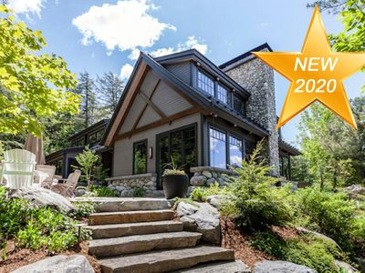 Photo for Gorgeous Rustic-Modern Cottage on Lake Joseph! Cathedral Ceilings! Muskoka Room!