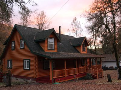 Photo for Spa, Log House on year-round Stream, Swimming Hole, Hiking, Wifi
