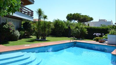 Photo for Beautiful luxury villa just a few meters from the sea with private pool