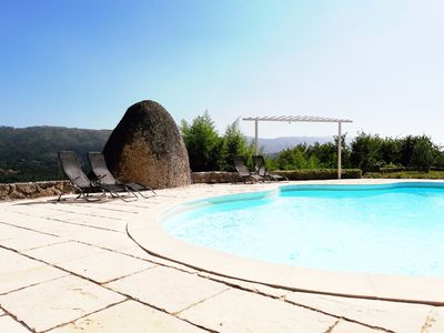Photo for Farmhouse with pool, mountain views, excellent sun exposure