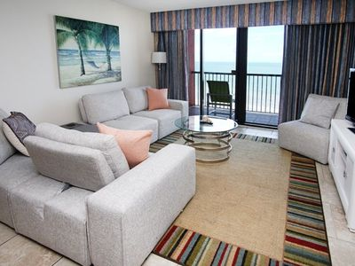 Beach Colony 1401, Lovely 2 BR Ocean Front Condo with Indoor Outdoor Pools, Hot Tubs, Lazy River and Kiddie Pool