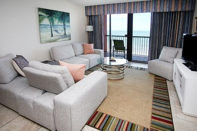 Enjoy Ocean front views from your living room.