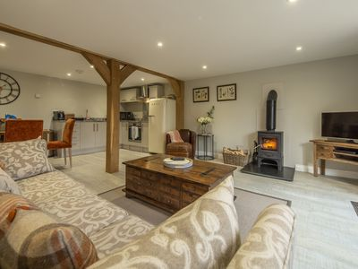 Photo for This barn provides all the comforts of home including a wood burning stove.