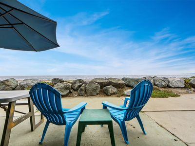 Photo for NEW LISTING! Oceanfront lower-level duplex w/direct beach access & beach view
