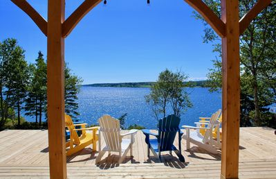 Infinity Deck, faces southwest, looking toward Crescent Beach and LaHave Islands