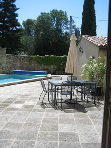 Photo for Apartment located on the ground floor with private pool, private parking for 6 per