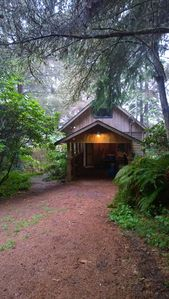 Entry to cabin with ample parking.