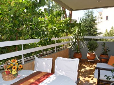 Photo for Apt 130m2,3 bedrs,1 full bathr, WC,Great Spacious Balconies, Garden, Parking
