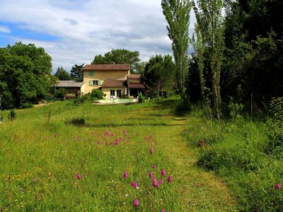 Photo for Large cottage 140m2, Cathar country, swimming lake kayak hike