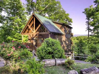 Photo for Majestic Views, Luxury Log Cabin, Great Location, Peaceful, Year-round Access