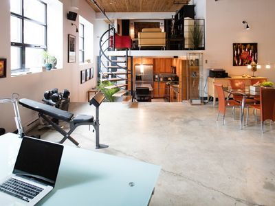 Photo for Bright & Sunny loft - Mile-EX - Business ready