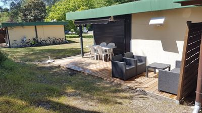 Photo for The holiday home in the middle of 70 hectares of pine close to the beach