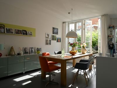 Photo for Bright town house + garden, close to beach and Amsterdam