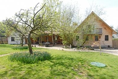 Photo for Very Large Canadian Cedar Log Home With South West Views Over Lovely Kentish Val