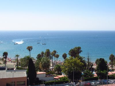 Photo for Bright and spacious apartment with frontal sea views and 300m from Puerto Marina