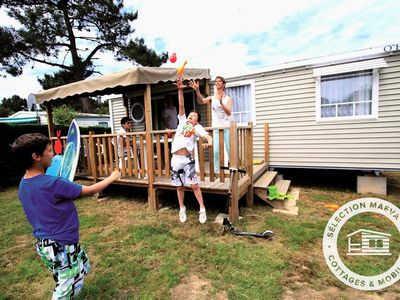 Photo for Camping Oleron Loisirs **** - Maeva Camping - Mobile Home Confort 4 Rooms 6 People