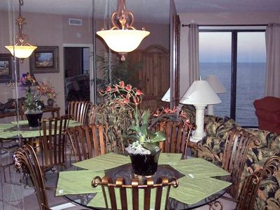 Comfortable and Roomy dining area with a view!