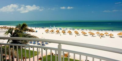Photo for Beach Vacay Starts Here! Spacious 2BR Apartment, Balcony, Gulf View, Pool, Spa