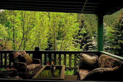 One of the largest, most pleasant, and private balconies in the Sun Valley area!