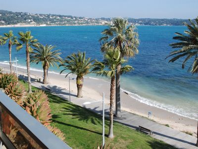 Photo for 2 Room Apartment, + Terrace 12 m² - Sea Front, Facing Sand Beach