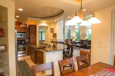 Beautiful kitchen and dining room