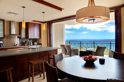 Ocean view from out kitchen, dinning room, and lanai.