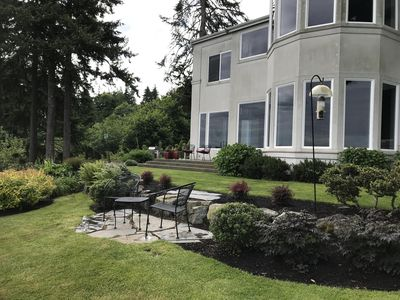 Photo for Elegant Bluff Home with 180 + degree view of Puget Sound and mountains