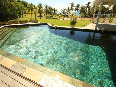 Photo for Luxury villa - feet in the water - pool - sea view - housekeeper - park