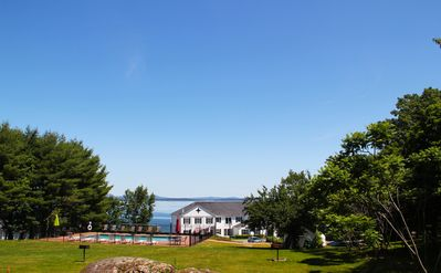 Photo for Nice Ocean Views, Walk to downtown Bar Harbor, Air-Conditioned, Free Parking