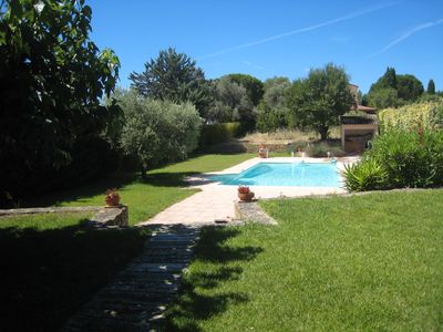 Photo for Independent villa with garden and pool residential area near beaches