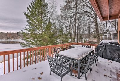 Enjoy lakefront views from the private decks!