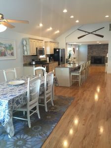 Make your summer memories in the huge open concept dining room and kitchen.